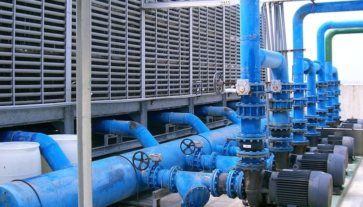 process cooling system, process cooling water